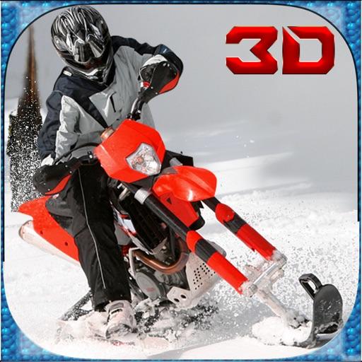 极端的雪地自行车模拟器3D