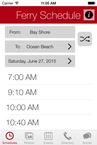 Fire Island App screenshot 1