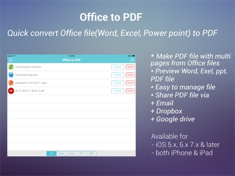 how to create a pdf from word iphone