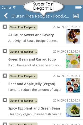 Celiac disease & gluten free recipes , news and healthy vegetarian tips screenshot 3
