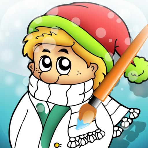 Attivo! Coloring Book Dell'inverno Per i Bambini Per Imparare a Dipingere un Quadro