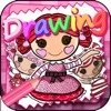 "Drawing Desk Draw and Paint Dolls Coloring Book For Girls - ""Lalaloopsy edition"""