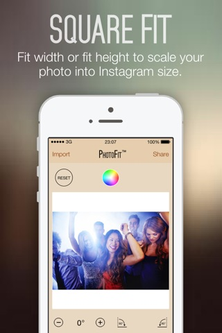 Photo Fit FREE - Convert Photos Pictures Images from any Size into Square Shape for Instagram screenshot 2