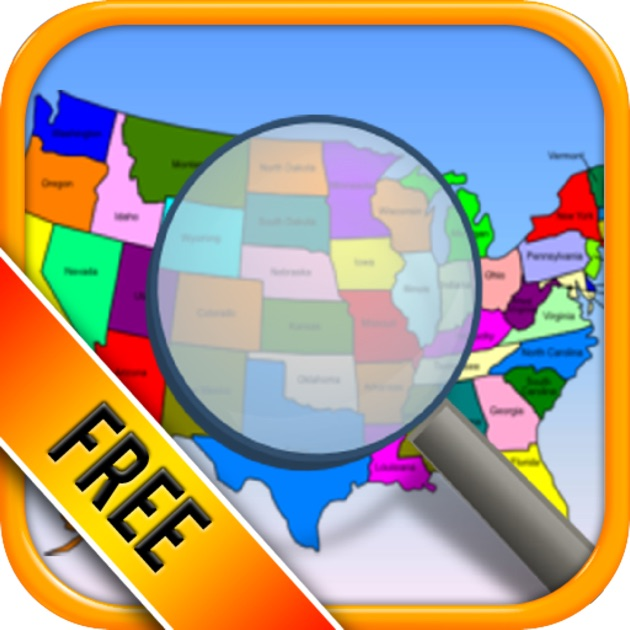US State Capitals Trivia Quiz Free The United States Fifty - Us state map placement quiz