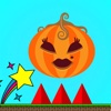 Bouncing Pumpkin - run & jump with halloween horror effect