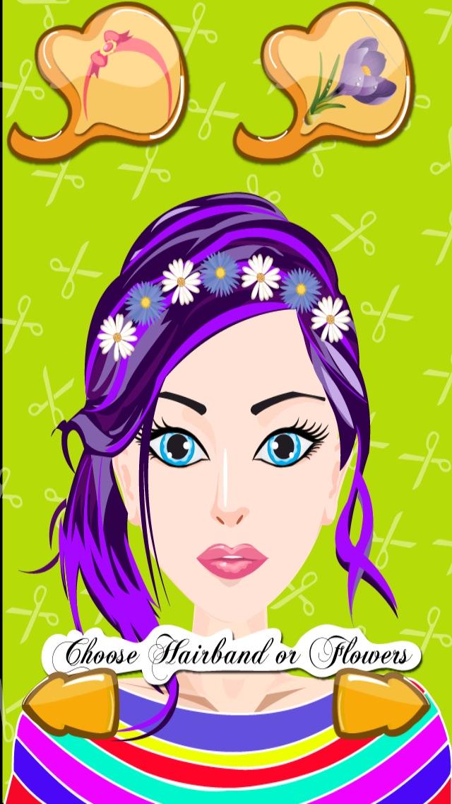 髪のプリンセスドレスアップ - ホットサロン&スパ化粧 - シックな10代の女の子のファッション変身ゲームのスクリーンショット4