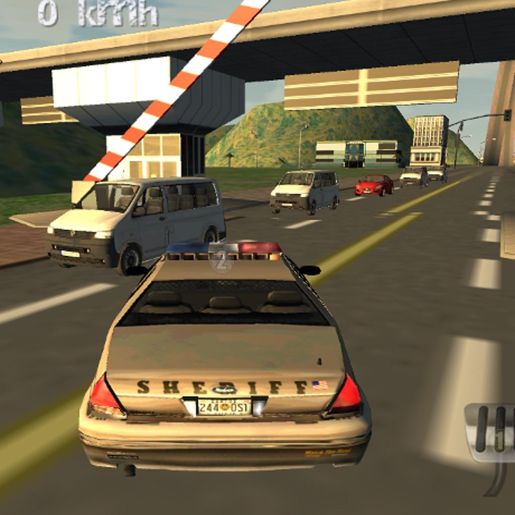 Police car driving simulator 3d cop cars speed racing for Car paint simulator