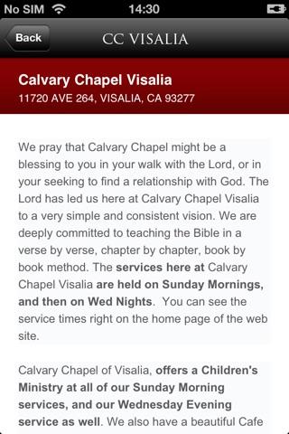 Calvary Chapel Visalia screenshot 2