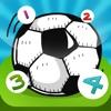 123 giochi per bambini di calcio: Impara a contare i numeri 1-10 per la scuola materna, scuola materna o la scuola materna. Imparare per la coppa del mondo nel 2014 in Brasile!