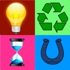 Symbol, Sign and Logo Quiz:Whats the Word,A Word Brain Puzzle quizup game 4 logos,Pop,brand,Icon,signs(e.g. zodiac),symbols mania with pics no cheat friends, Guess 1 Word Photo Quiz icon