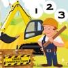 ABC&123建築工人孩子們的遊戲很多挑戰!免費學習,樂趣玩挑戰