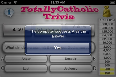 Totally Catholic Trivia 2.0 screenshot 3