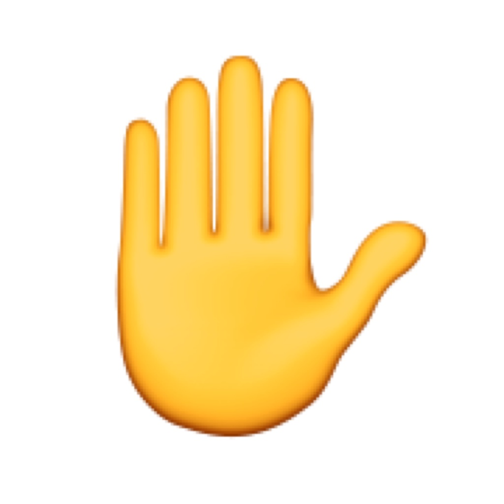 Talk To The Hand Emoji Giant Sized Emojis For Real Life
