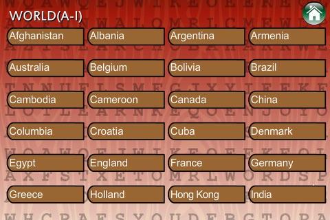 Word Search Cultures Global screenshot 2