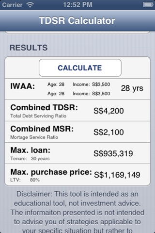 TDSR Calculator screenshot 4