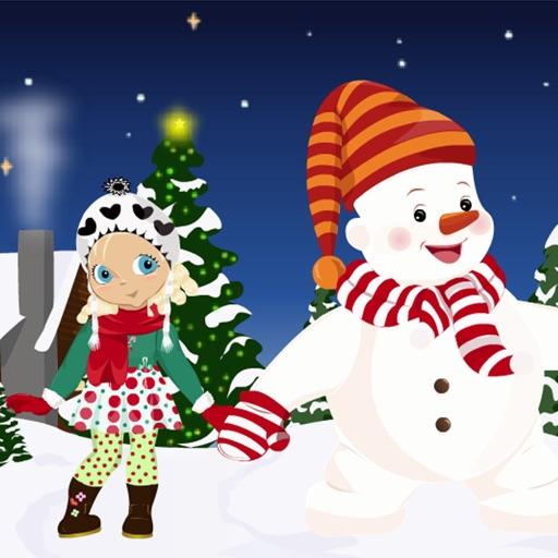 Little Girl and her Snowman iOS App