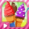 Sugar Cone Creator  - Soft Creamy Ice Cream dessert  on sunny beach