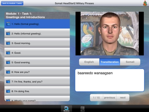 Headstart2 Somali Military Phrases screenshot 4