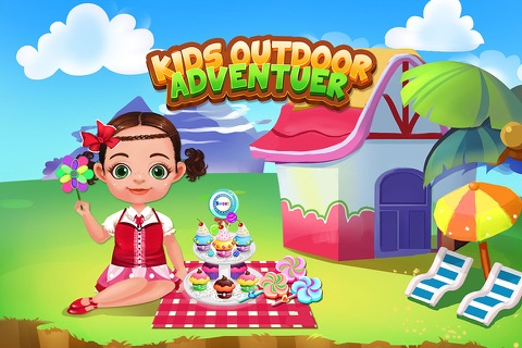 Baby Outdoor Adventure - Kids Town Mini Games Care Center screenshot 1