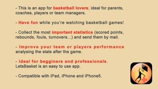 Screenshot of LetsBasket+ Statistiche Basket5