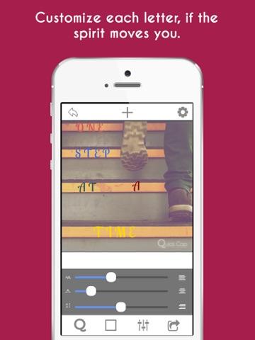 Screenshots of Quick Cap Free - Captions And Quotes Maker for iPad
