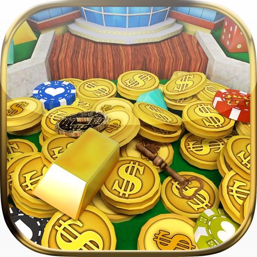 Ace Coin Dozer Lucky Vegas Arcade Game by Top Kingdom Games iOS App