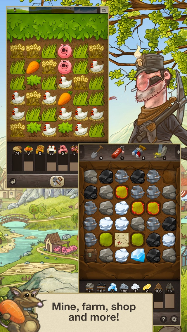 Screenshots of Puzzle Craft for iPhone