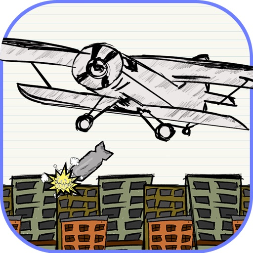 Toss the Doodle Paper AirPlane Bomber Diamond Edition iOS App
