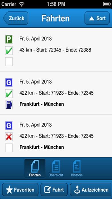Screenshot von DriversLog Fahrtenbuch4