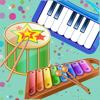 Instrumentos musicais para crianças - Jogo e gravar música com instrumento sons