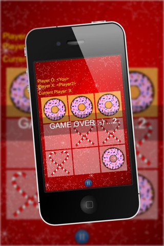 Christmas XO - Classic Tic Tac Toe Game, Candy Canes vs Sweet Donuts screenshot 3