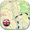 England (United Kingdom) offline road map. Great Britain Free Guide