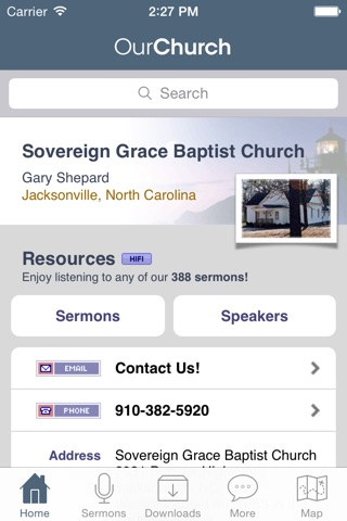 Sovereign Grace Baptist Church, Jacksonville NC screenshot 1