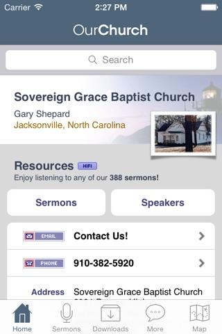 Sovereign Grace Baptist Church, Jacksonville NC screenshot 1
