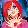 Monster Girl Long Nails Makeover saloon in Scary House