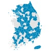 Visited Korea Map - Seongmin Kang