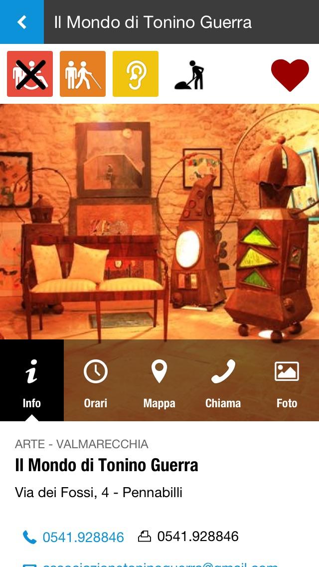 Screenshot of Rimini Musei Accessibili3