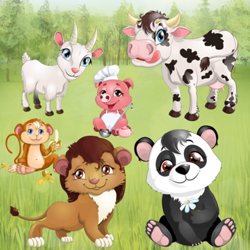 Animals for Toddlers and Kids : puzzle games with pets and wild animals ! iOS App