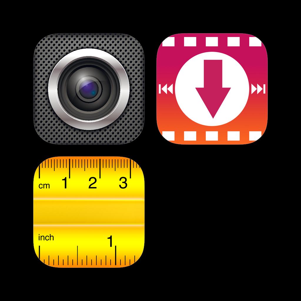 Video Downloader Cloud + Screen Recorder Web + Digital Ruler