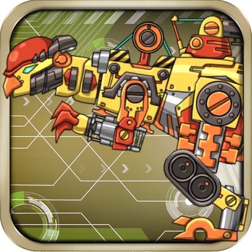 机械盔头龙-恐龙变形玩具儿童游戏免费