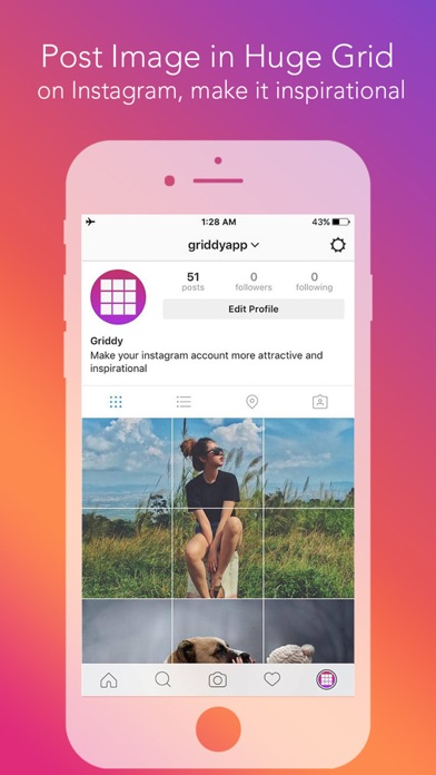 Griddy Pro - Split Pic in Grids For Instagram Post Screenshot