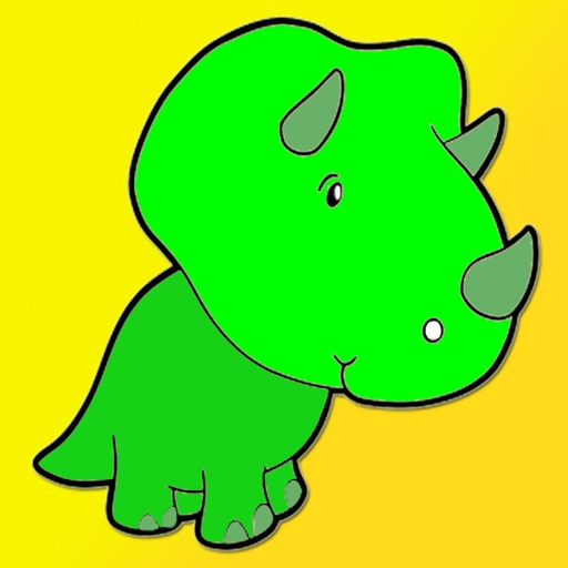 Kids Coloring Book - Cute Cartoon dinosauro Miyashita