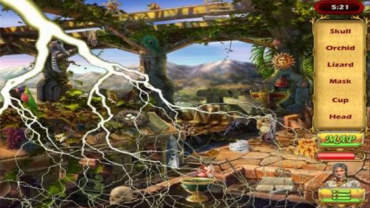 Hidden Object: Hunter Secrets Of Aztec and Mayan Tribes Free Screenshot