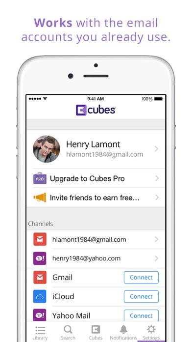 download Cubes - Email Organizer apps 3
