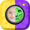 貼紙 面部 彩繪 面具 遊戲 – 滑稽 和 嚇人 圖片 對於 iPhone