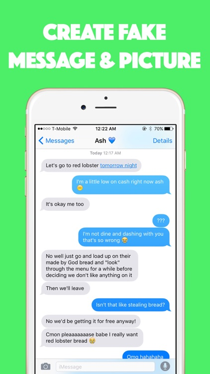 Madison : Fake text message app
