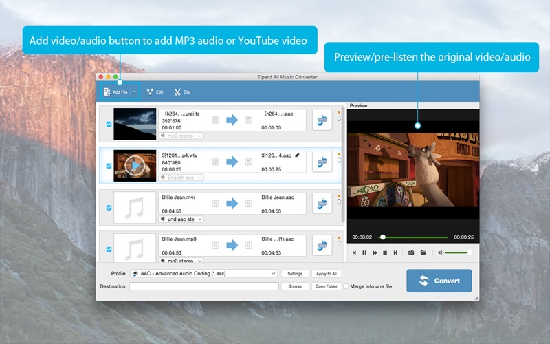 Tipard All Music Converter-Convert to MP3 Screenshots