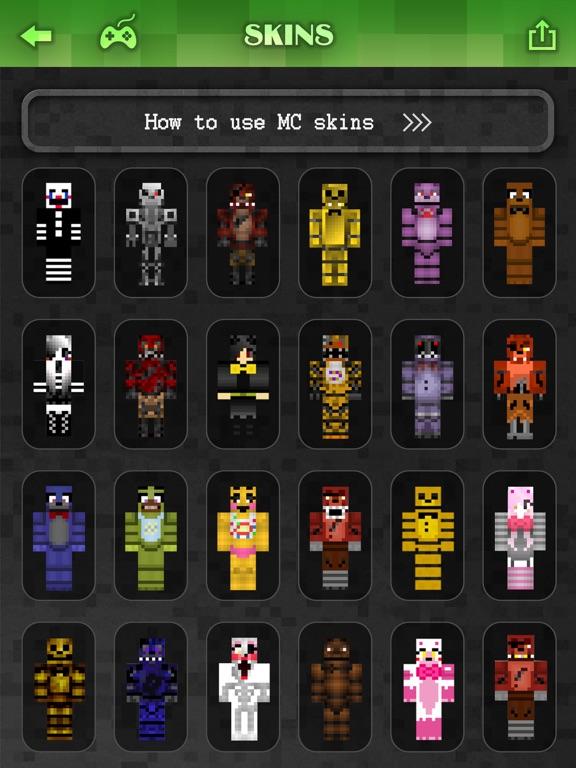 Best FNAF Skins Collection Pro Skin Creator For MineCraft Pocket - Skins para minecraft pe de fnaf