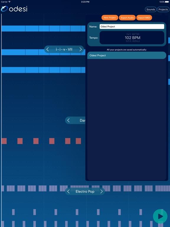 Odesi chords create rhythms basslines chord for Odesi com