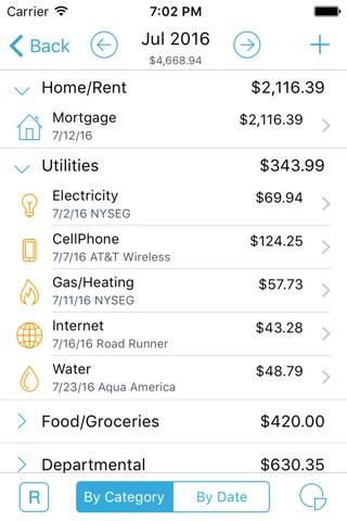 HomeBudget with Sync screenshot 2